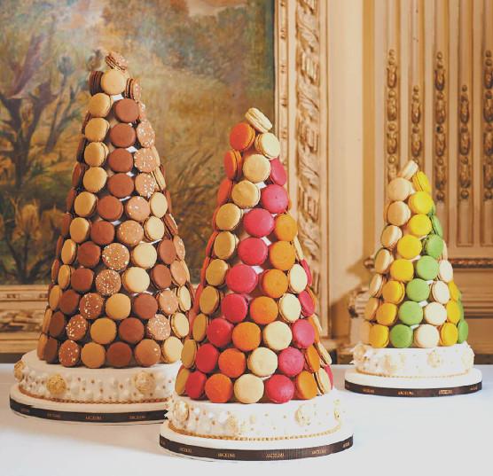 angelina-wedding cake-macarons
