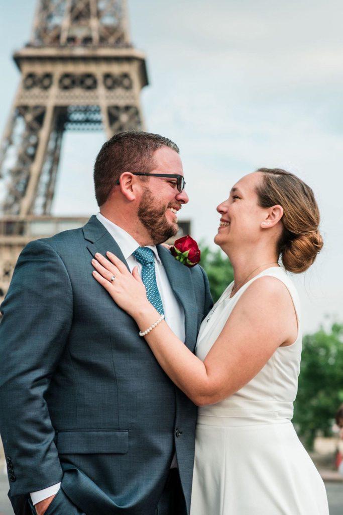 Alison & Teddy elopement in Paris